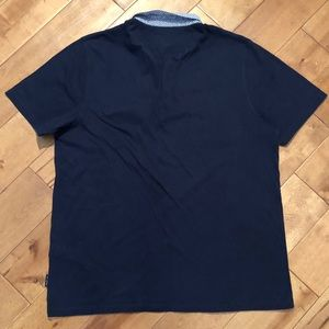 Ted Baker London Shirts - Ted Baker Woven Collar Polo Shirt Size 6/Med